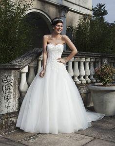 Style 3733: Tulle A-line dress with a Sabrina neckline | Sincerity Bridal