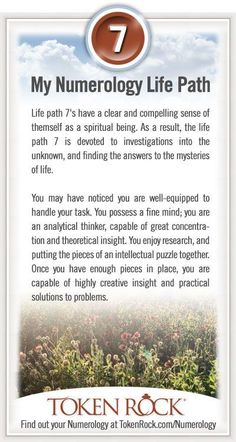 My #Numerology Life Path #7