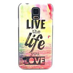 Živjeti život Ljubav Pattern Hard Case Cover za Samsung Galaxy S5 I9600 – USD $ 2.99