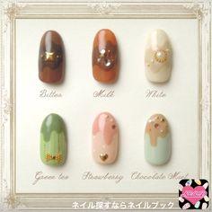 Glitter Nails, Gel Nails, Manicure, Nail Polish, Kawaii Nail Art, Asian Nails, Soft Nails, How To Make Box, Beautiful Nail Art