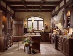 Beautiful Tuscan Kitchen Design http://www.monroestbistro.com/warm-beautiful-tuscan-kitchen-design/