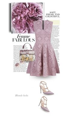 """""""A flower doesn't think of competing with the flower next to it, it just blooms"""" by blonde-bedu ❤ liked on Polyvore featuring Folio, Valentino, Burberry and Chloé"""