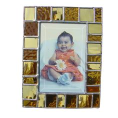 Diane Markin Panel Mini Combo Amber Photo Frame PMC-A, Artistic Artisan Designer Photo Frames