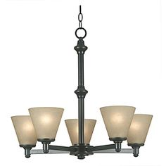 @overstock $139.99 Madison 5-light Bronze Patina Chandelier - Colonial meets modern in this Madison chandelier with a candlestick-inspired bronze look. Paired uniquely with modern amber glass shades, this light fixture puts a fresh spin on a classic look