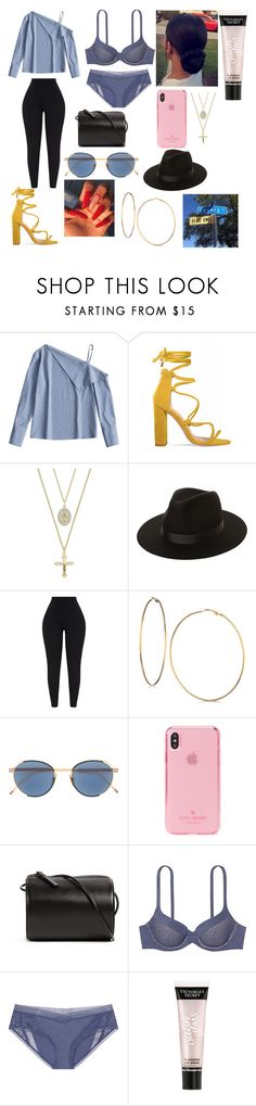 """Lovers 💕"" by okunicorn ❤ liked on Polyvore featuring The M Jewelers NY, Lack of Color, GUESS, Kate Spade, Building Block, Body by Victoria, Victoria's Secret and GAS Jeans"