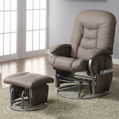 Baby Nursery Swivel Glider Recliner W Ottoman Gliding Rockers Reclining Chairs