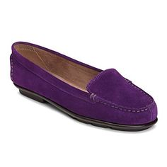 Aerosoles Nu Day Damen US 9 Lila Slipper - Ballerinas für frauen (*Partner-Link) Oxford Booties, Oxford Sneakers, Oxford Heels, Women Oxford Shoes, Loafers For Women, Loafers Men, Ballerinas, Purple Suede, Dark Purple