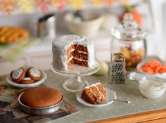 Miniature Carrot Cake Baking Set by CuteinMiniature on Etsy, $44.50
