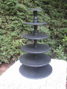 Cupcake Stand Wedding Decor Large Black 6 Tier by YourDivineAffair, $164.95