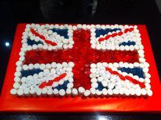 Union Jack sweet cake