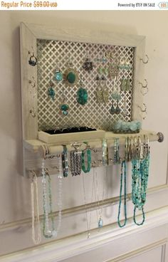 100 diy jewelry organizers storage ideas full tutorials diy on sale lovely rustic sun bleached and chrome clover ready to ship wall mounted solutioingenieria Choice Image
