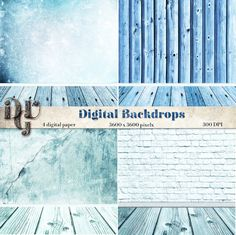 Digital Backdrop Shabby Chic blue room  photo by DreamUpGraphic