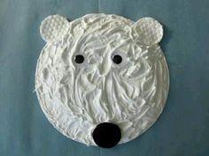 Shaving cream and glue Polar Bear