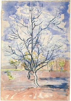 Watercolor and charcoal Arles 1888