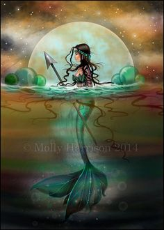 Mystic Sea Mermaid Fantasy Art by Molly by MollyHarrisonArt