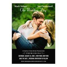 Wedding Save the Date Card | Movie Poster Design Custom Invites