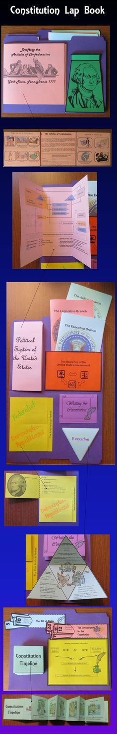 This Constitution Lap Book contains interactive organizers which may be glued onto a file folder to form a lap book, added to interactive notebooks, or used individually. $