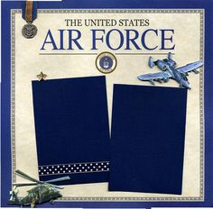 Premade Scrapbook Page  Air Force by SusansScrapbookShack on Etsy, $9.95