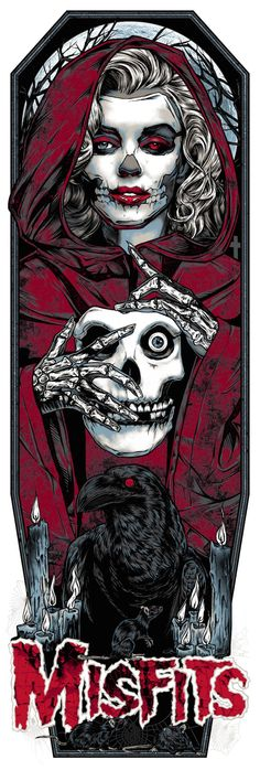 "I love this new Misfits poster by Rhys Cooper. It's a 12"" x 36"" screenprint, has an edition of 138, and costs $50. Visit Rockabilia.com."