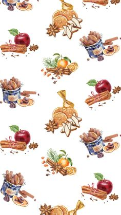 Fall Background Wallpaper, Theme Background, Christmas Pictures, Christmas Art, Xmas Cross Stitch, Paper Napkins For Decoupage, Mushroom Art, Autumn Art, Christmas Wallpaper