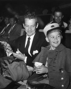 Micky Dolenz with his Dad on set of Circus Boy