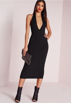 Get it on like bodycon! We're toally girl crushin' on the black beauty. In a ribbed finish, open back detail and halter neck style, this is one seriously smokin' dress. Perfect for the ultimate girls night out, team up with a staple style -...