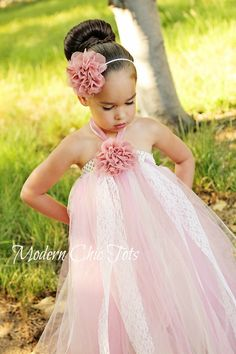Vintgae Flower and Lace Tutu Dress. This would be the cutest flower girl dress!!