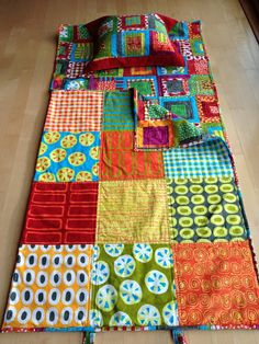 Make quilted nap sacks for the kids! Keeps them cozy in style.