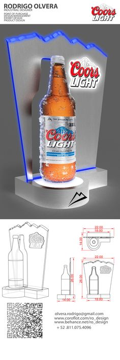 COORS LIGHT GLORIFIER by RODRIGO OLVERA, via Behance