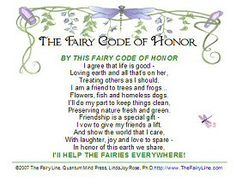 Do-it-Yourself Fairy Tea Parties  The Fairy Code of Honor