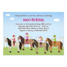 Free Printable Horse Riding Party Invitations Birthday - Horseback riding birthday invitation