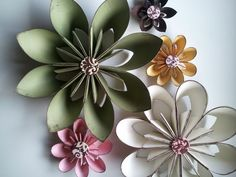Wall Flowers in earth tones for nursery or home by MyBelovedAdoria, $50.00