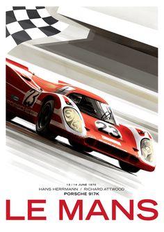 Le Mans / Porsche 917K by Guy Allen