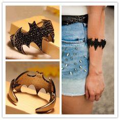 Jeweled Bracelet with Batman Logo