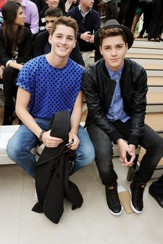 Jack and Finn Harries at the Burberry Prorsum Menswear Spring Summer 2014
