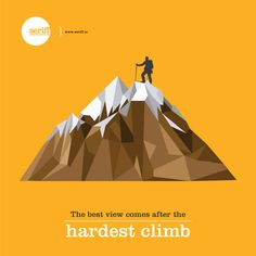The best view comes after hardest climb. #view #holidays #vacation #mountains #cold #weather #graphicdesign #Seriff