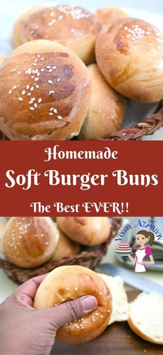 soft burger buns are the best you will ever make the next time you plan your burger feast. They are soft, fluffy and golden but most importantly they are easy and with my step by step pictures you will make them more often then you plan. Soft Burger Buns Recipe, Best Homemade Burgers, Homemade Buns, Homemade Sandwich, Homemade Hamburgers, Homemade Biscuits, Homemade Hotdog Buns Recipe, Best Burger Buns, Recipes