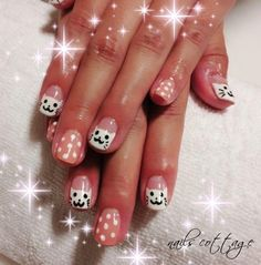 Adeline Scottish- Nail Art Gelish Cats Singapore 2012