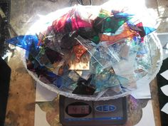 STAINED GLASS SCRAPS FOR  MOSAICS AND OTHER PROJECTS 4+  P0UNDS #SPECTRUMROUGHROLLEDMOSTLYTHEYELLEWISFLAT