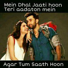 Agar tum saath ho❤r Bollywood Movie Songs, Bollywood Quotes, Cool Lyrics, Me Too Lyrics, Jokes Quotes, Movie Quotes, Couple Quotes, Urdu Quotes, Filmy Quotes
