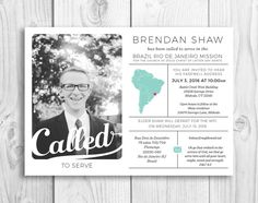 LDS missionary announcement and contact info - Picadillylime on Etsy