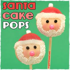 Santa Christmas Cake Pops - sugarkissed.net