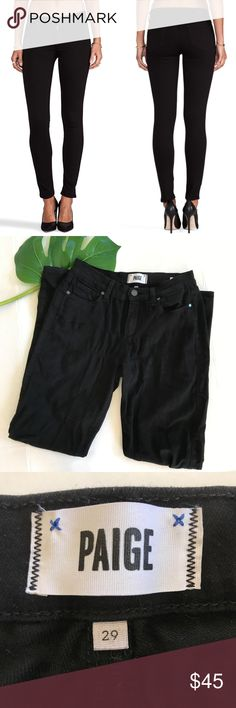 """Paige Verdugo Ultra Skinny Black Dahlia Jeans Paige Verdugo Ultra Skinny Black Dahlia Jeans There is very light pilling in the crotch area The jeans are very soft, jegging-like, with lots of stretch Size 29  Approximate measurements (flat): Waist: 14"""" Inseam: 30.5"""" Rise: 8.5""""  Check out my closet for bundles! PAIGE Jeans Skinny"""