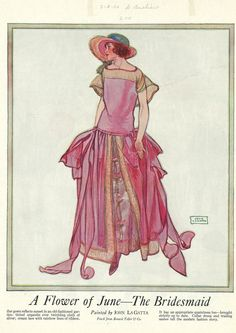 1923 June, fashion magazine illustration by John LaGatta...one of my favorite illustrators.