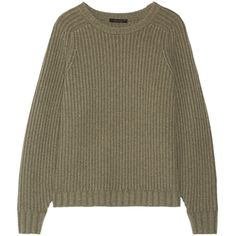 The Row Keyes ribbed wool and cashmere-blend sweater (€1.095) ❤ liked on Polyvore featuring tops, sweaters, the row, the row sweater, oversized sweaters, cashmere blend sweater, oversized wool sweater and over sized sweaters