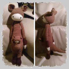 KIRA the kangaroo made by Patricia W. R. / crochet pattern by lalylala