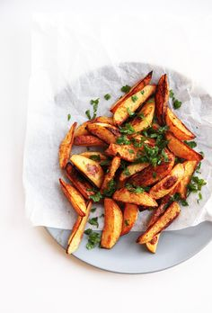 Sweet paprika fries -oven roasted - Little Big H