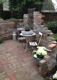 Garden – garden brick – # garden # stone wall garden # brick – Famous Last Words Indoor Garden, Outdoor Gardens, Brick Garden, Garden Stones, Small Gardens, Amazing Gardens, Backyard Landscaping, Fence Ideas, Beautiful Pictures