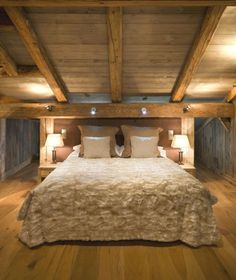chalet montagne chambre ambiance cosy