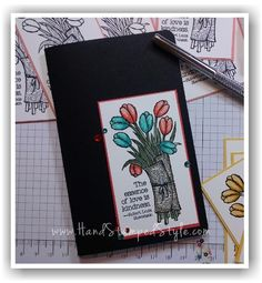 Love is Kindness mini journal by Hand Stamped Style created with Stampin' Write Markers.